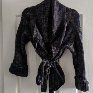 Marc by Marc Jacobs tie front sweater - medium